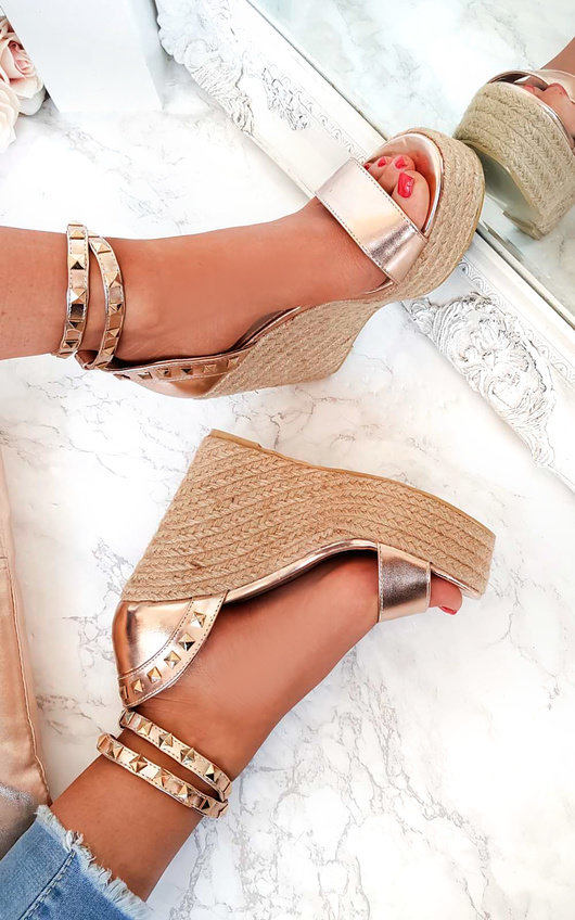 Klaire Studded Embellished Wedges