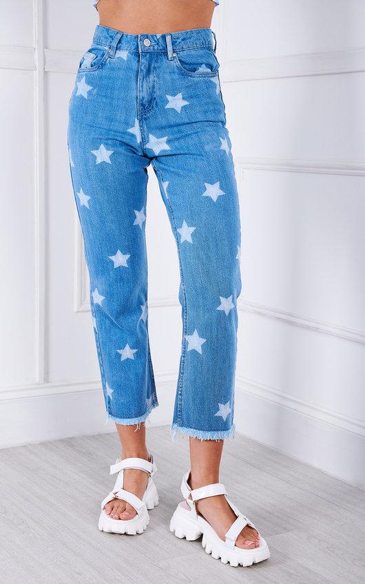 Klarissa Star Printed Slim Fit Jeans
