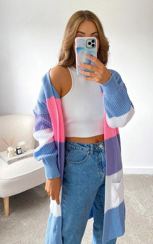 Koda Striped Knitted Cardigan