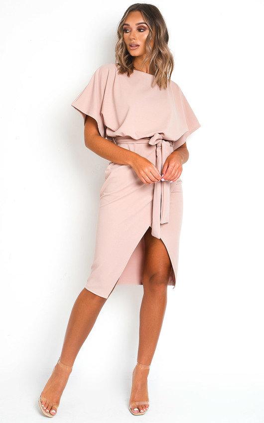 Koni Tie Waist Batwing Midi Dress