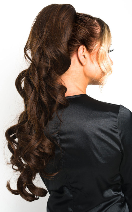 Kyla Long Curly Ponytail Hair Extensions