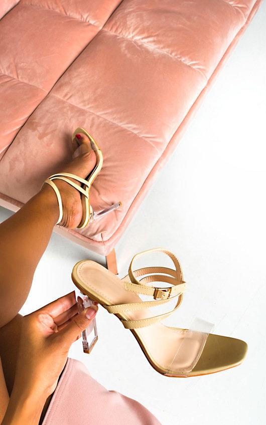 Kylie Crossover Perspex Heels