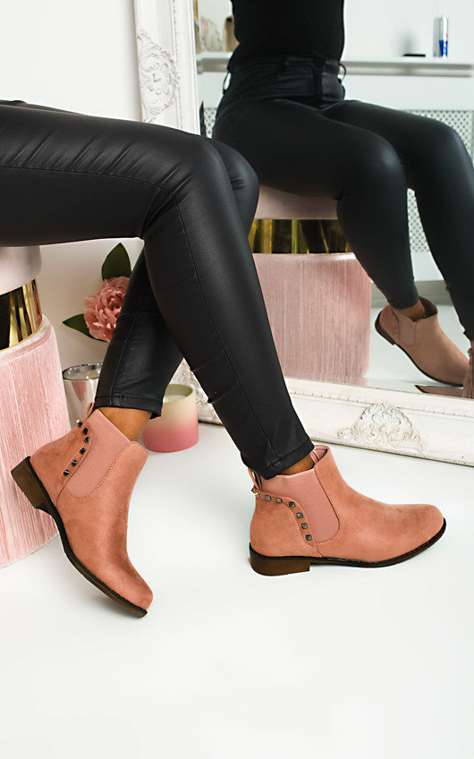 Kylie Faux Suede Ankle Boots