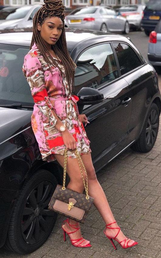 Kyra Paisley Print Satin Shirt Dress