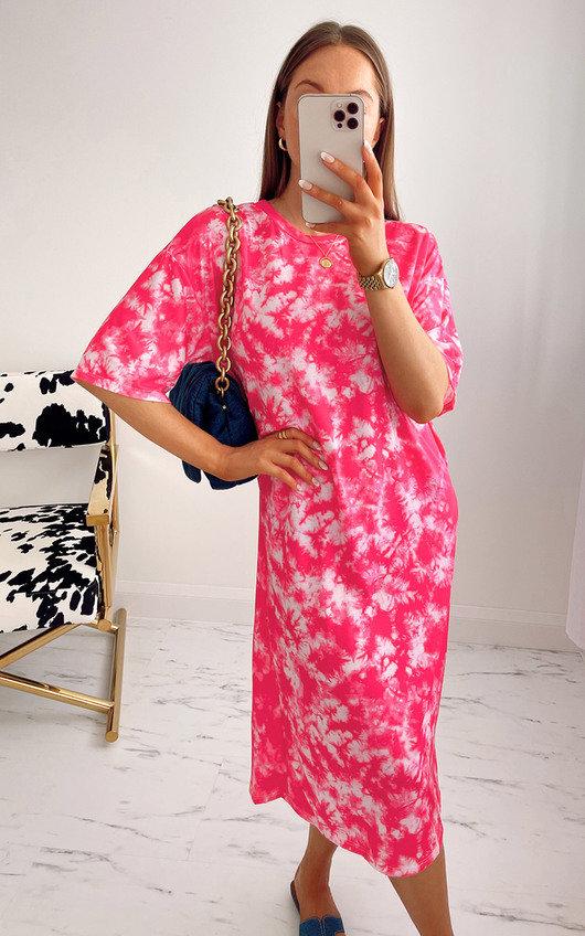Lachlan Tie Dye Midi T-Shirt Dress