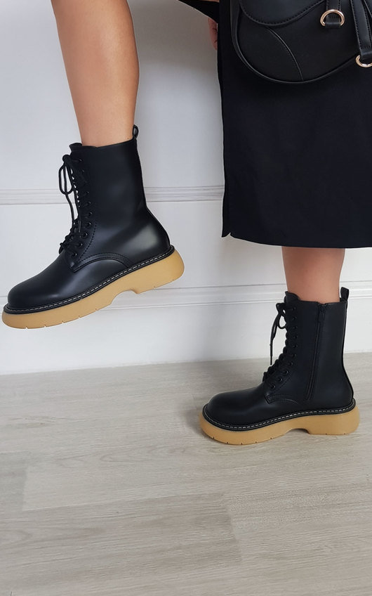 Lakesha Chunky Lace Up Boots