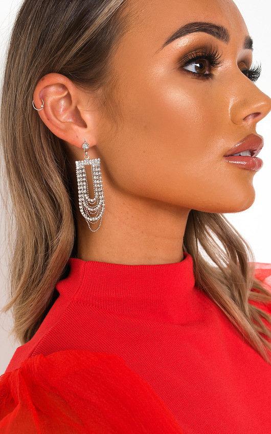 Lala Chain Diamante Drop Earrings