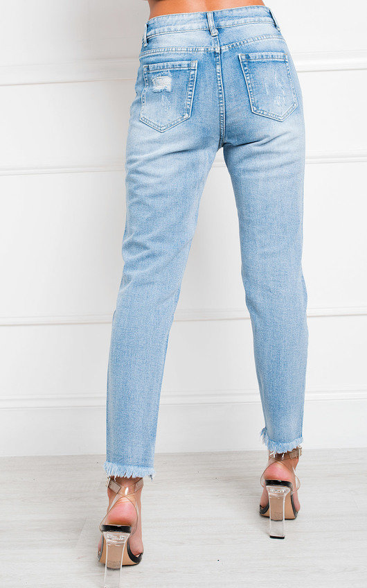 Lala Distressed Straight Leg Jeans