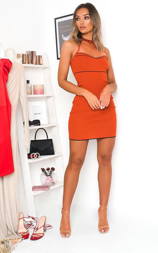 Lana Bodycon Knitted Mesh Dress