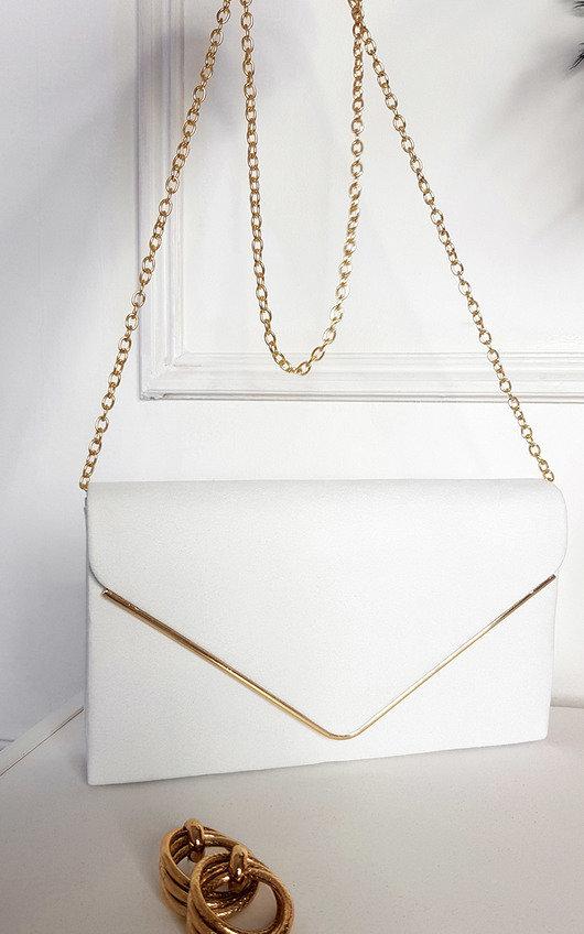Lara Faux Leather Envelope Bag