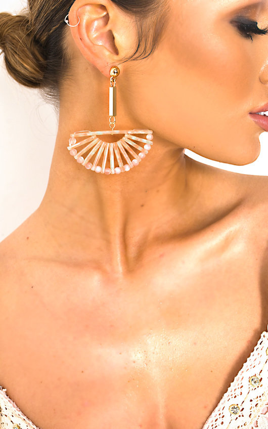 Lara Geometric Drop Earrings