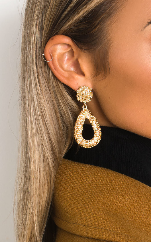 Laraa Statement Tear Drop Earrings