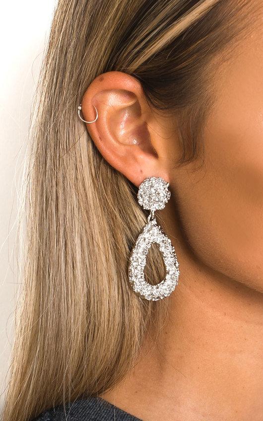Laraa Statement Tear Drop Earrings