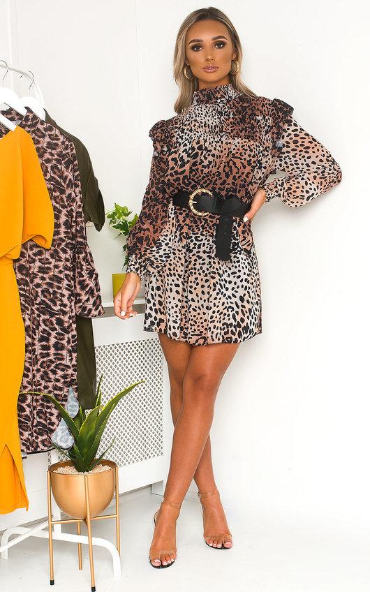 Larah Printed Smock Dress