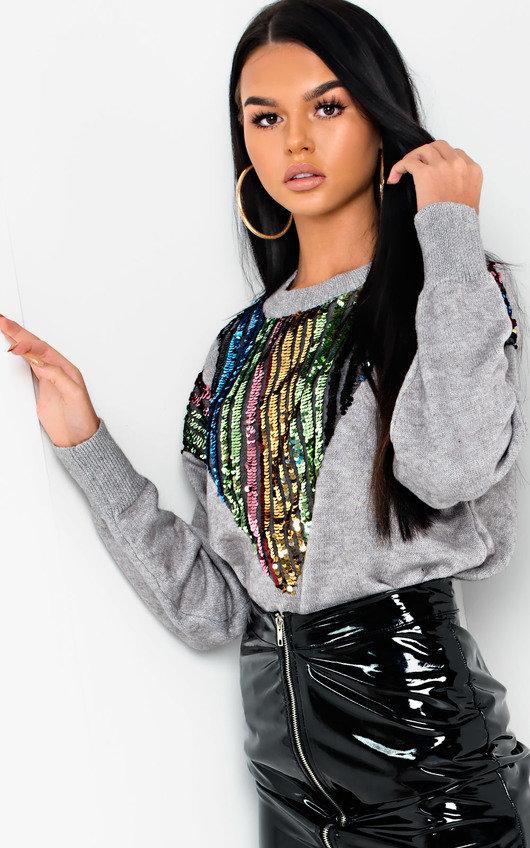 Larsa Sequin Embellished Knitted Jumper