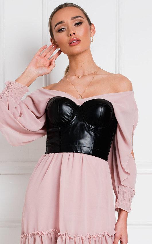 Latisha Faux Leather Bralet