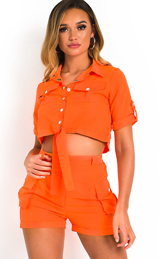 Launie Cargo Shirt and Shorts Co-Ord