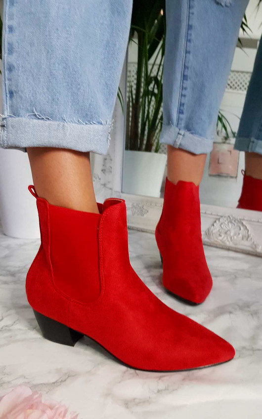 Laura Faux Suede Ankle Boots