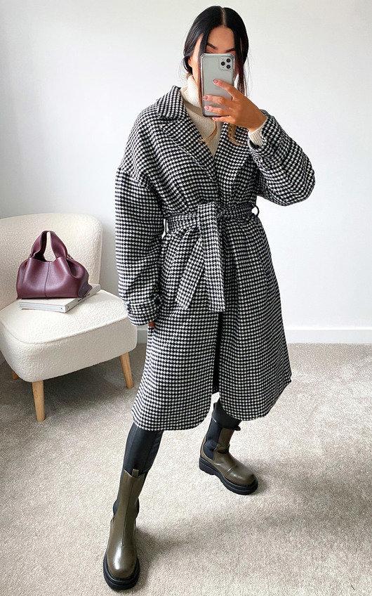 Lauren Checked Belted Trench Coat