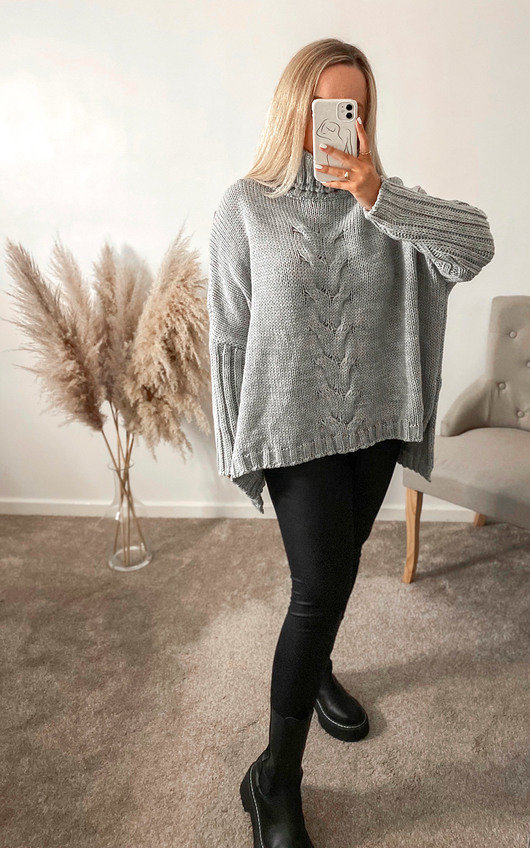 Lauren High Neck Cable Knit Jumper