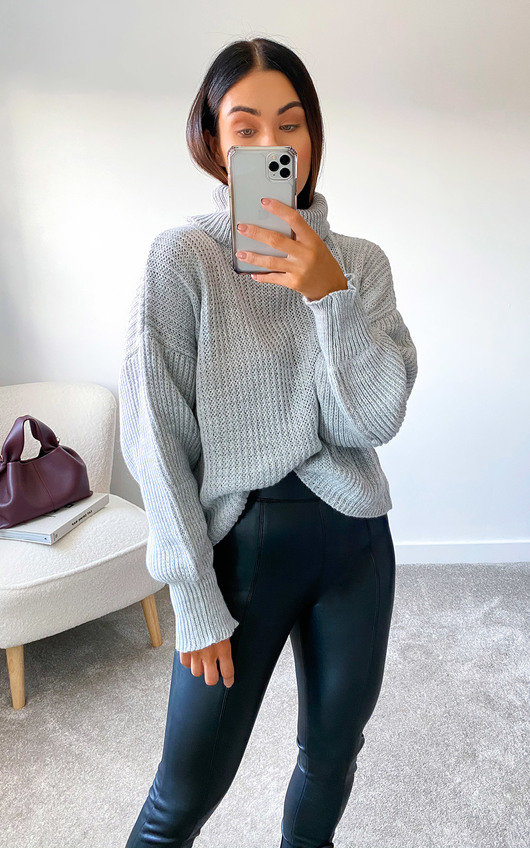 Lauren High Neck Knitted Jumper