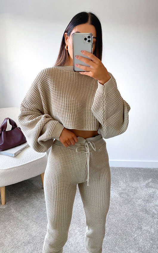 Lauren Knitted Cropped Co-ord