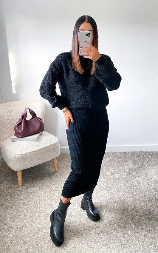 Lauren Knitted Midi Skirt