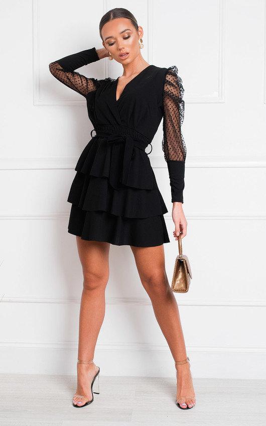 Laurenza Sheer Sleeve Dress