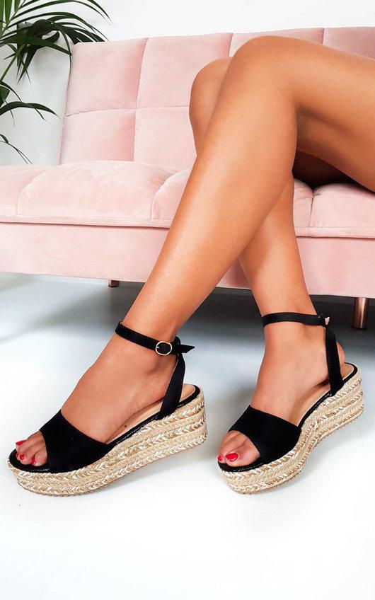 Lauryn Metallic Detail Flatform Sandals