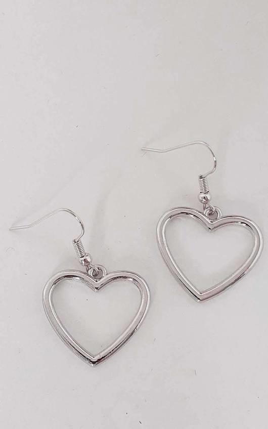 Layla Heart Hook Earrings