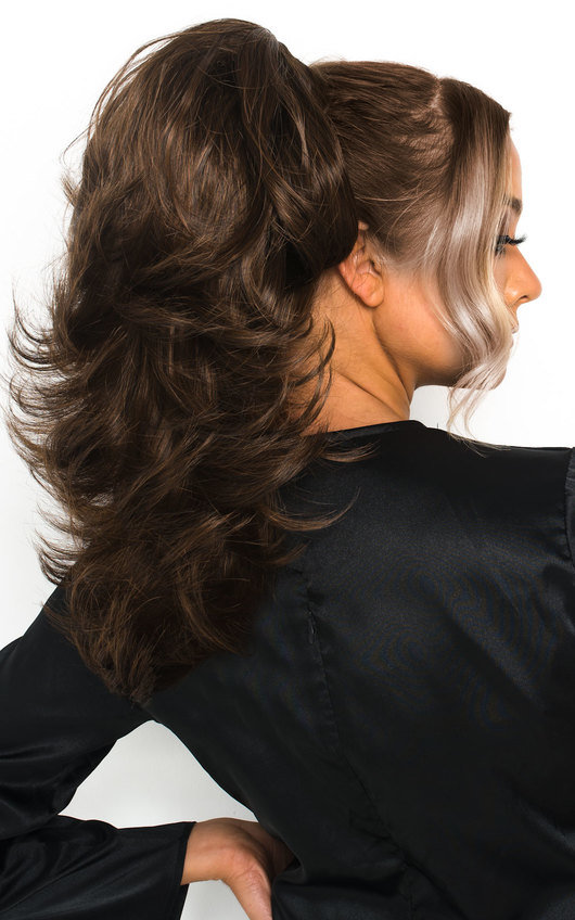 Layla Layered Curly Ponytail Hair Extensions