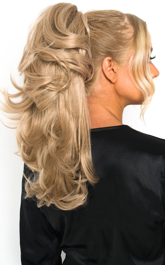 Layla Layered Curly Ponytail Hair Extensions - Curly California Blonde