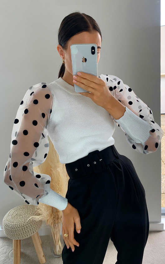 Layla Polka Dot Sheer Jumper