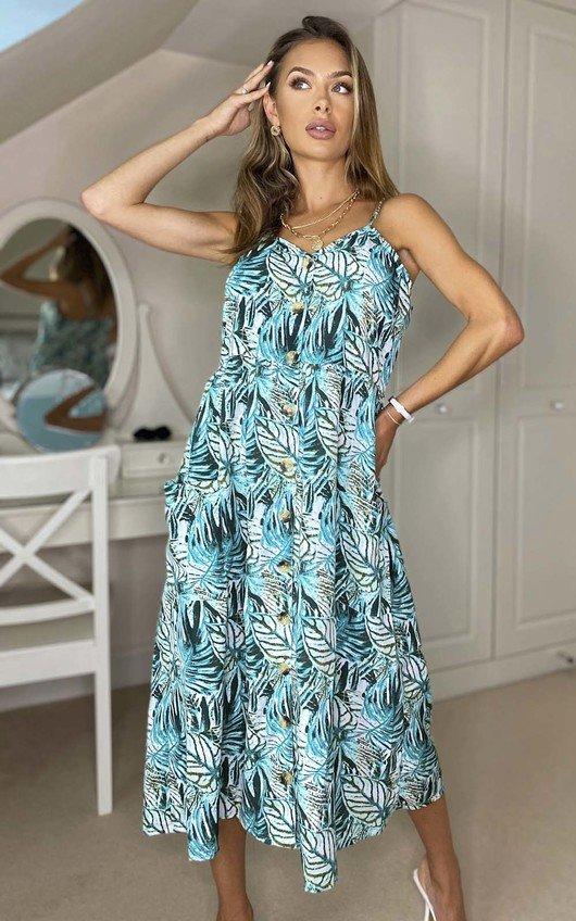 Layla Printed Midi Dress