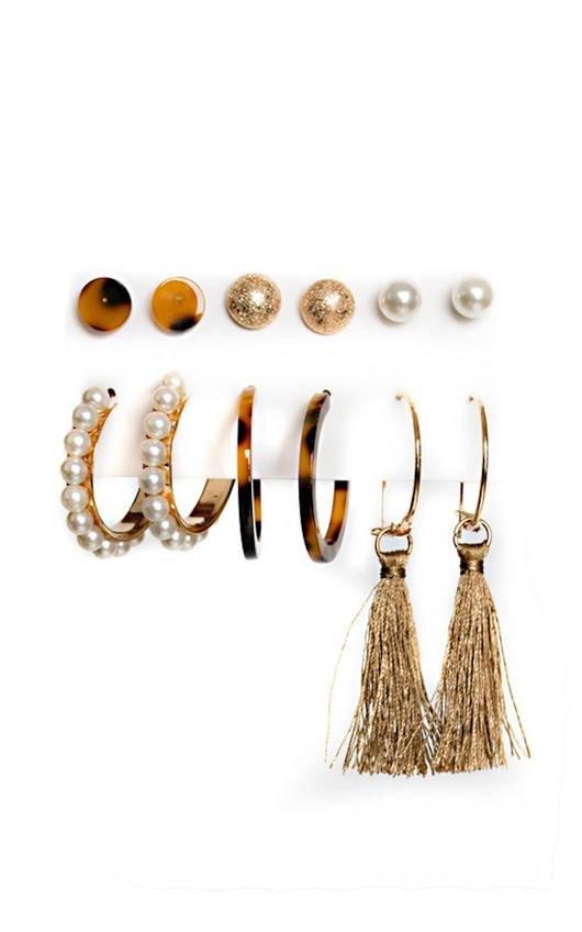 Layla Set of 6 Earrings