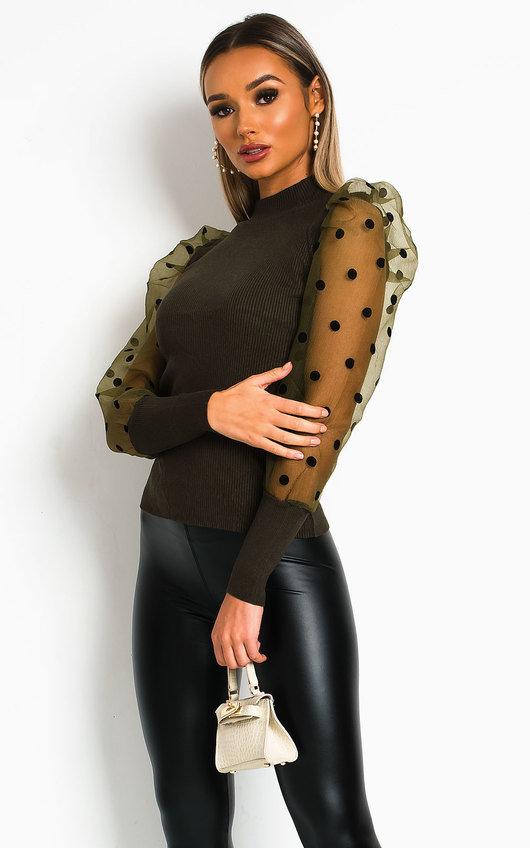 Layla Sheer Sleeve Jumper