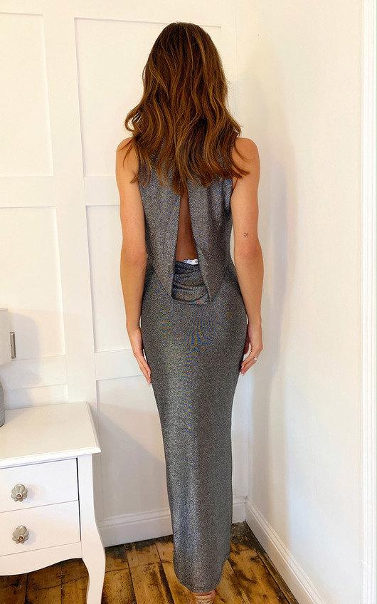 Layla Shimmer Evening Maxi Dress