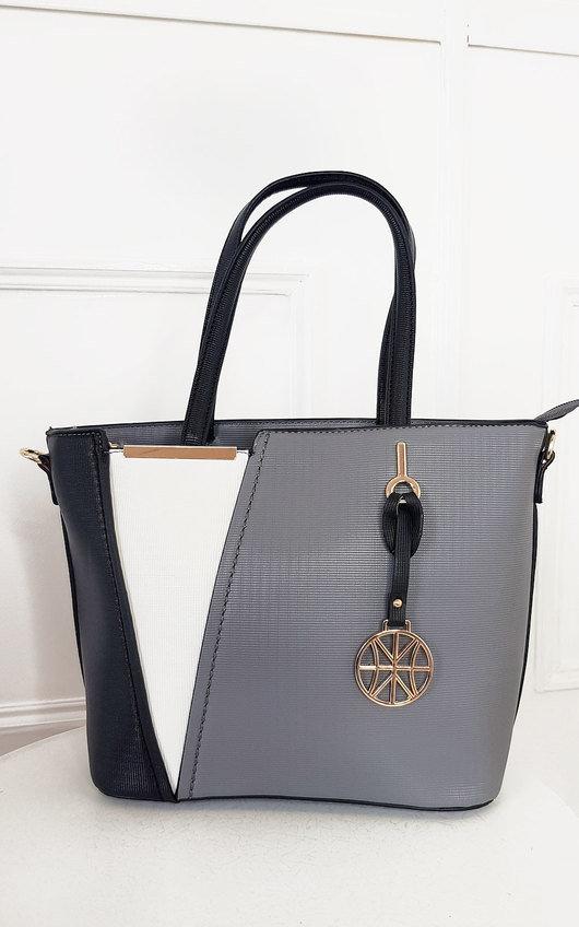 Layla Two Tone Faux Leather Handbag