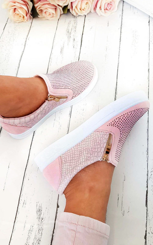 Leah Slip On Embellished Trainers