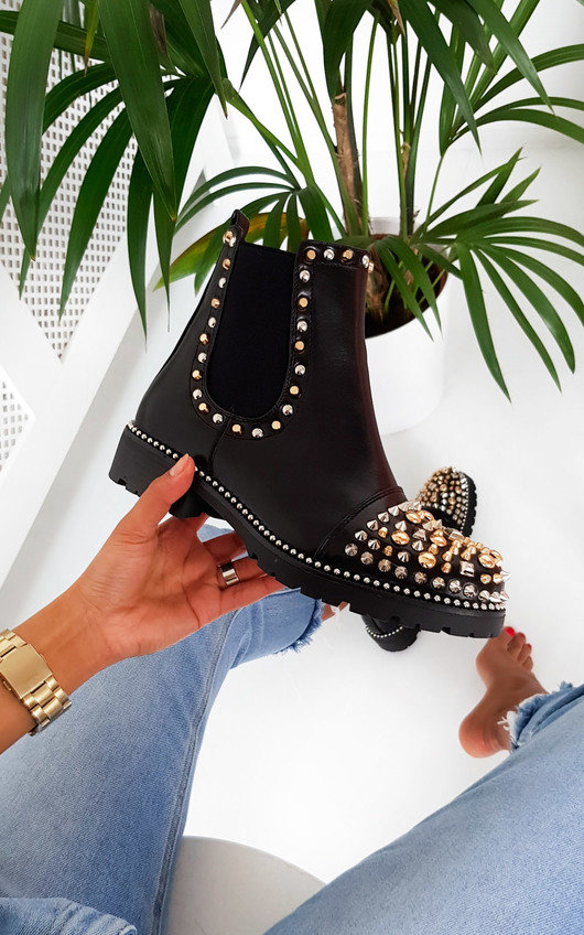 Leigh Spike Studded Ankle Boots