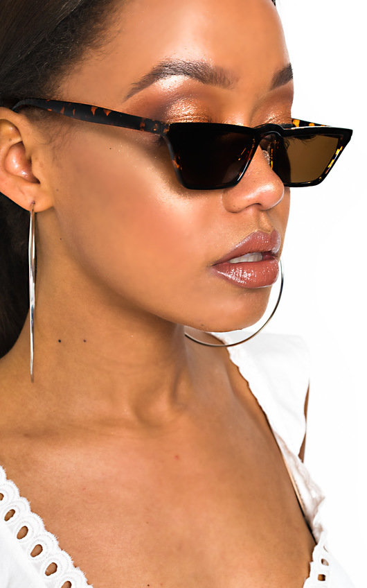 Leigh Tortoiseshell Square Cat Eye Sunglasses