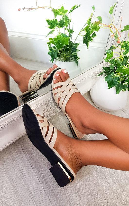 Lennon Patent Slip On Sandals