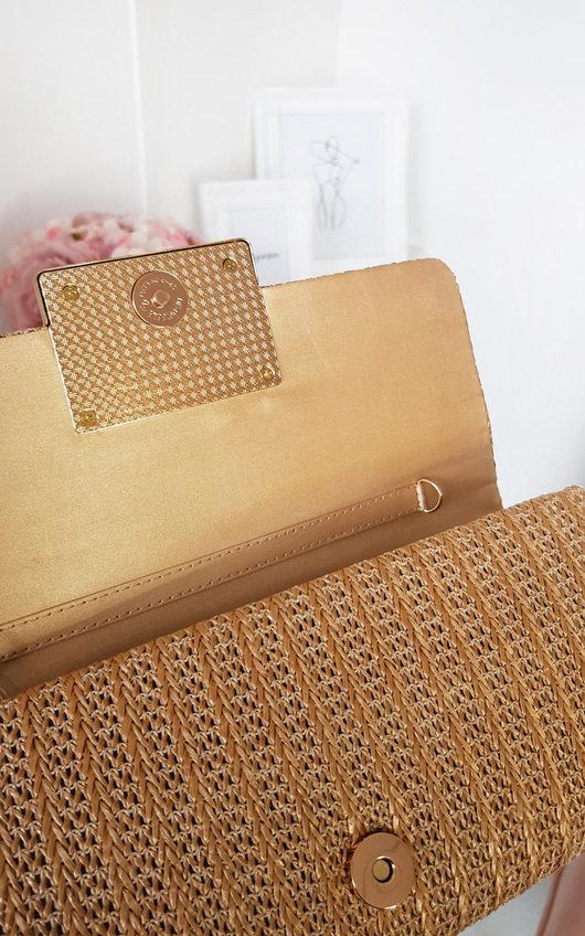 Leoni Raffia Clutch Bag
