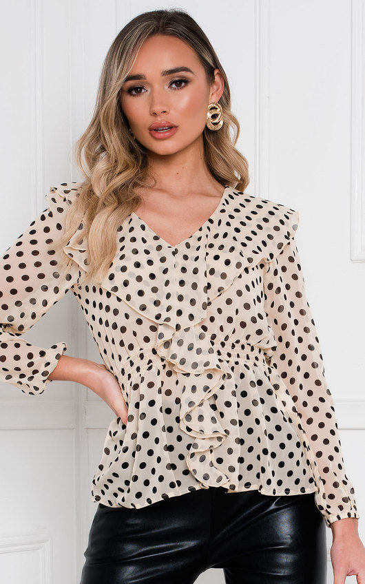 Leonne V Neck Long Sleeve Top