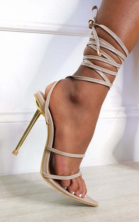 Leti Lace Up Pointed High Heels