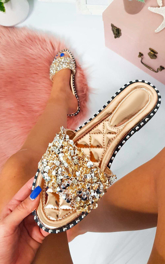 Libby Embellished Open Toe Sandals