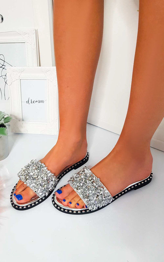 Libby Embellished Open Toe Sandals