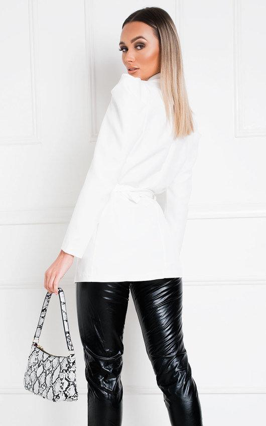 Libra Belted Puff Sleeve Blazer