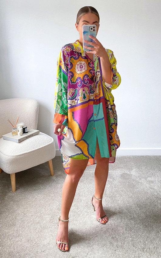 Libra Printed Shirt Dress