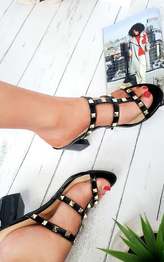 Lidia Studded Slip On Heel